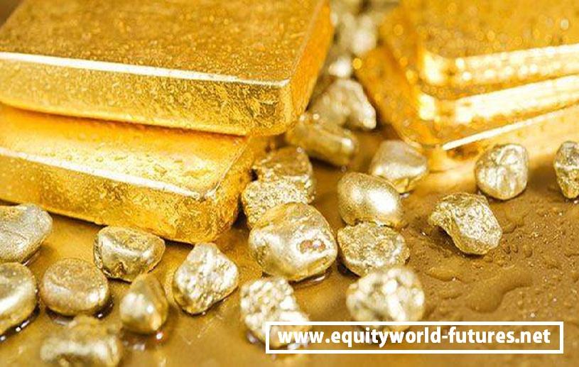 Equityworld Futures Pusat : Harga Emas Turun Hampir 2% Saat Saham Naik, Dolar AS Melambung
